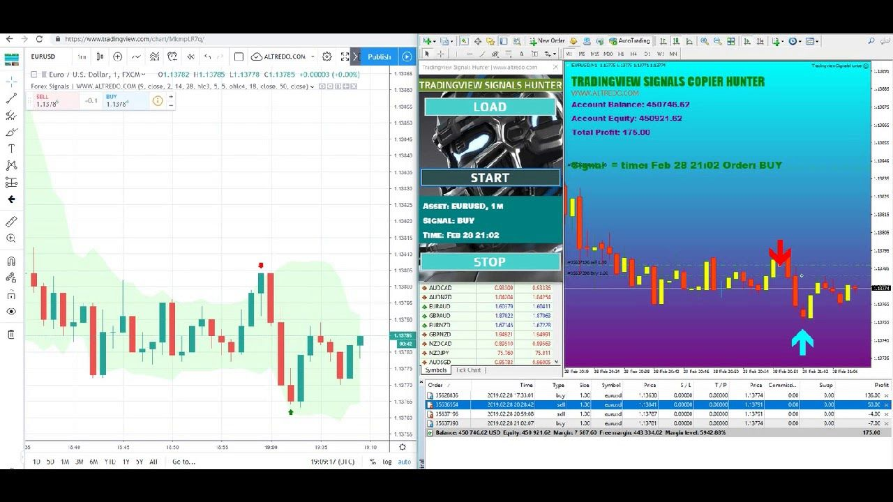 Tradingview Metatrader Signals Copier Hunter V 2 Intraday