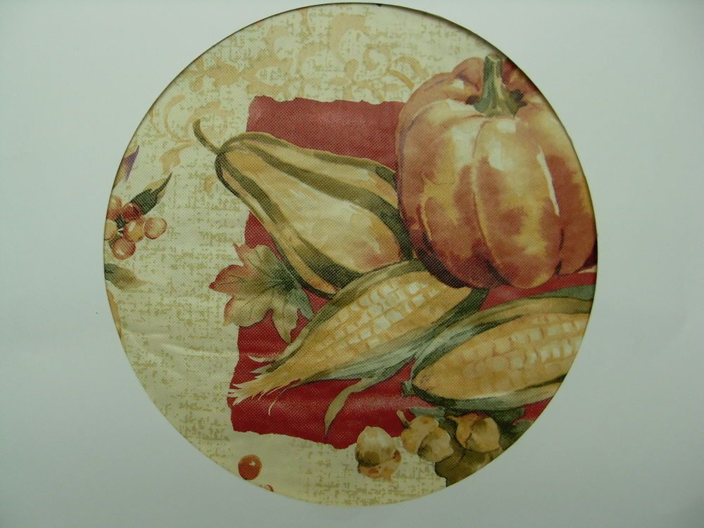 60 Round Elrene Pumpkin Harvest holiday Vinyl/Flannelback Tablecloth MULTI-COLOR #Elrene
