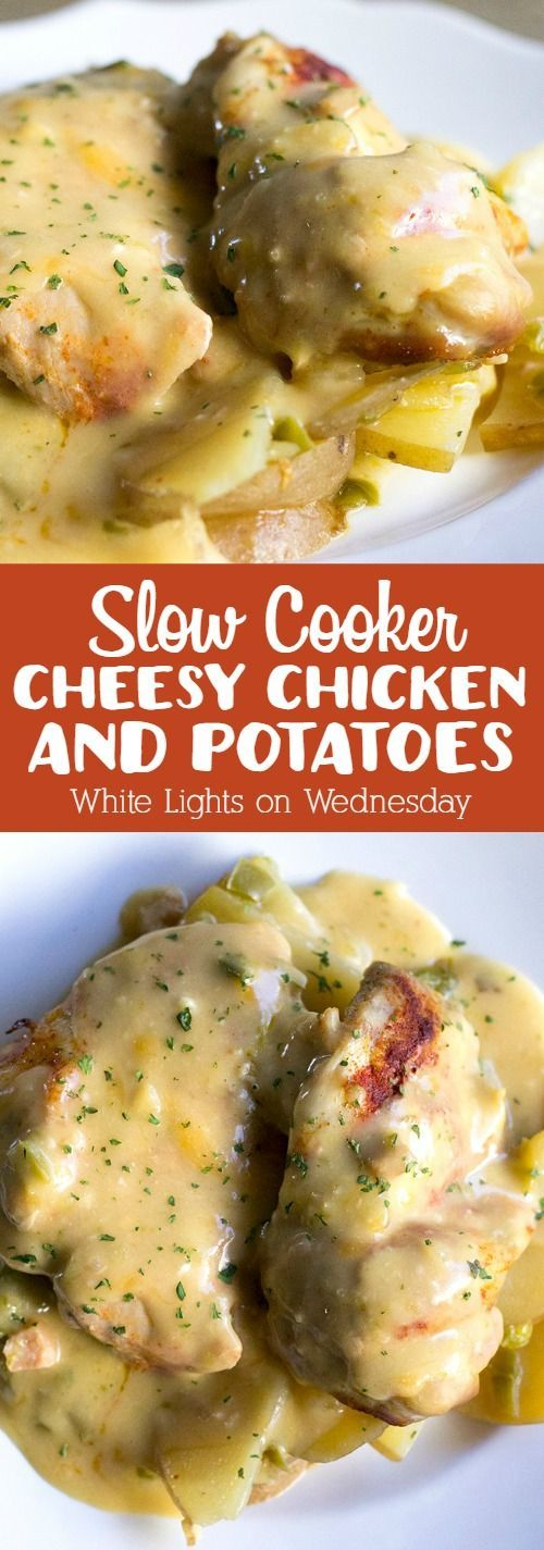 Slow Cooker Cheesy Chicken ll have everyone asking for seconds! #dinner_recipes_easy