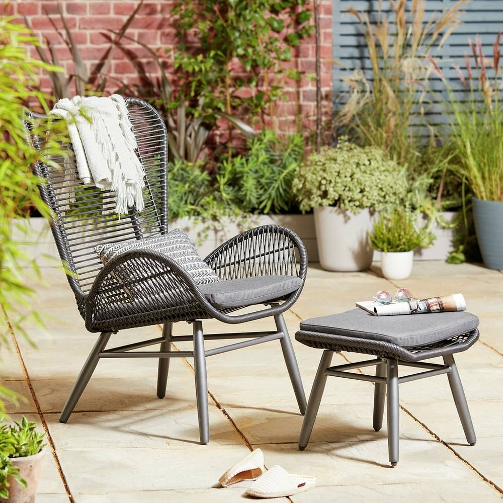 Buy Argos Home Butterfly Garden Chair and Footstool  Garden