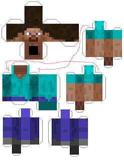 Florescer E Fotografar Papercraft Do Minecraft Minecraft Para Armar Armables De Minecraft Manualidades De Minecraft