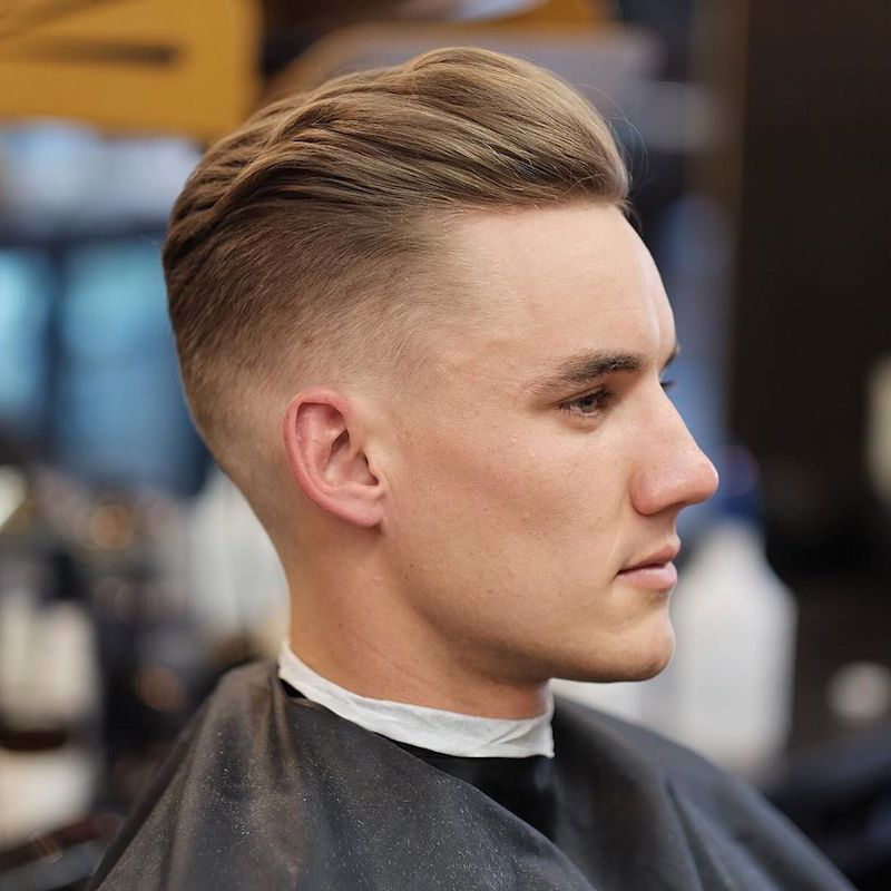 Clean Skin Fade Slicked Back Hairstyle 10 Classic Mens