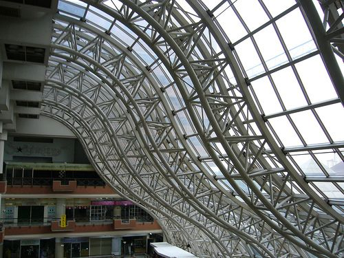 Temporary Space Frame Space Frame Roof Architecture Roof Truss Design