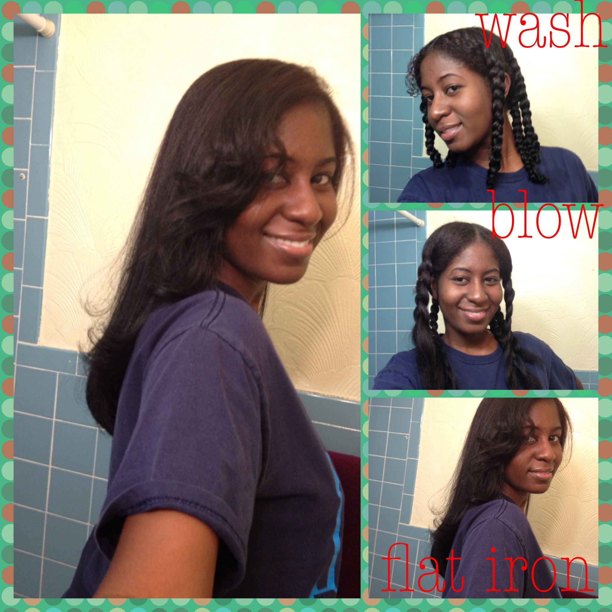 How to wash and flat iron natural hair