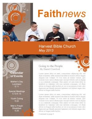 Young Adult Ministry Newsletters Bring You A Beautiful Customizable Newsletter Template Easy To Edit And Print