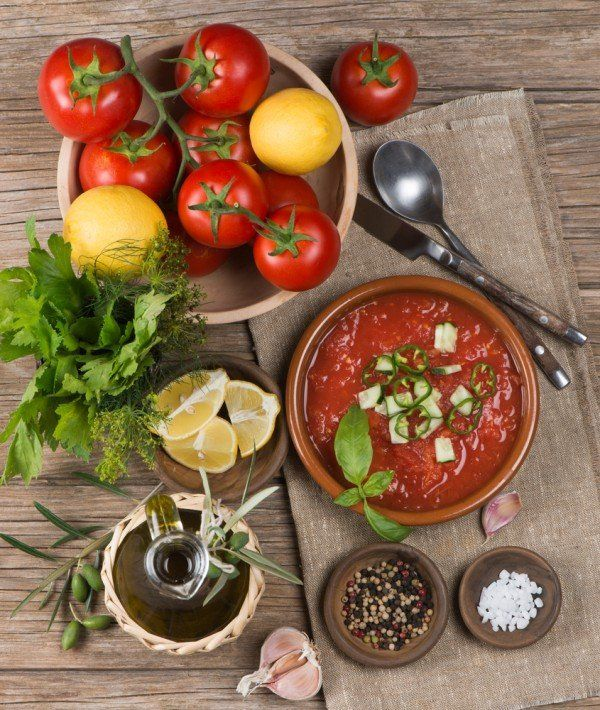 Gazpacho is by far my favorite summer food! It's a great cool-down and easy to make. #recipes #cleaneating