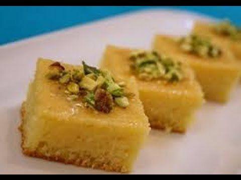بسبوسة بالقشطة طريقة البسبوسة طريقة عمل البسبوسة بالقشطة بسبوسة محشية بالقشطة عمل الحلويات Libyan Food Cooking Recipes Indian Food Recipes