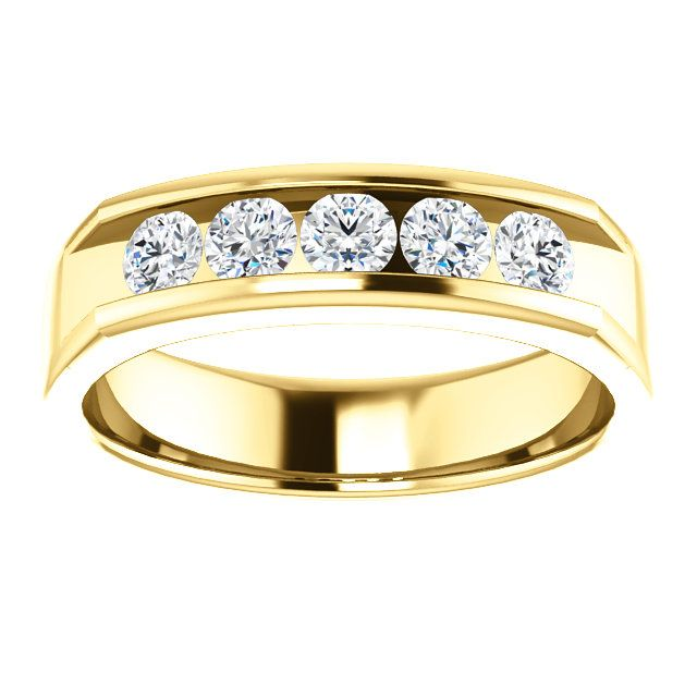 10kt Yellow Gold 3 5mm 5 Center Round Diamonds Mens Ring St122785 208 P Price 889 99 D Rings Mens Wedding Bands Mens Wedding Rings Mens Wedding Bands