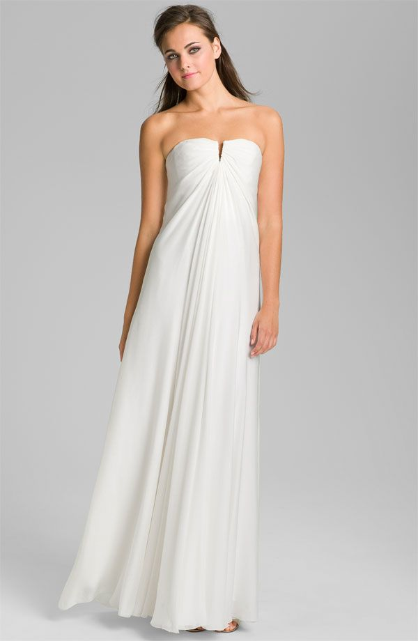 1000  images about White Dresses on Pinterest - Chiffon evening ...