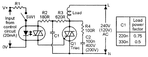 triac driving an inductive load