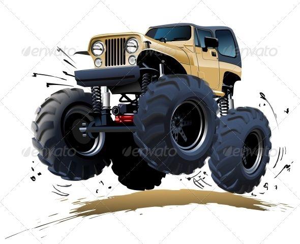 Cartoon Monster Truck Cartoon Monsters Monster Trucks And Cars