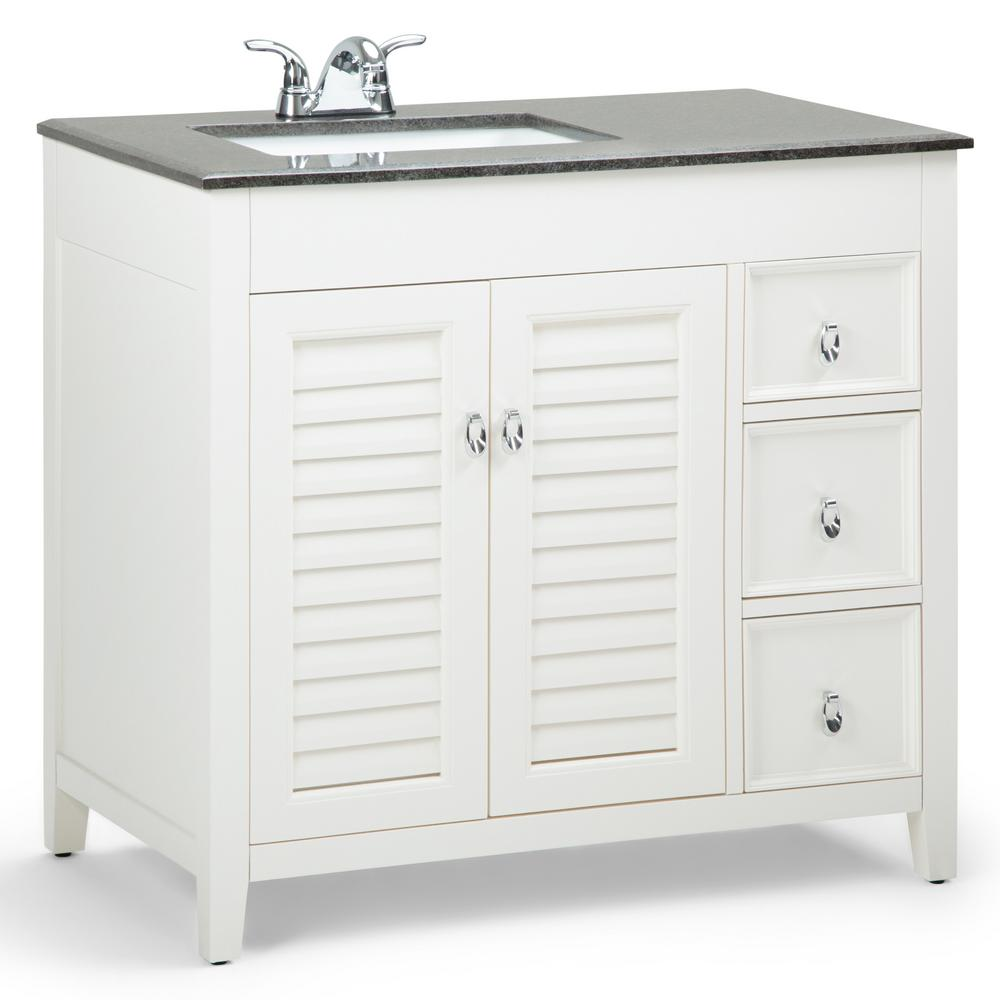 Simpli Home Adele 36 In W X 21 5 In D Left Offset Bath Vanity In