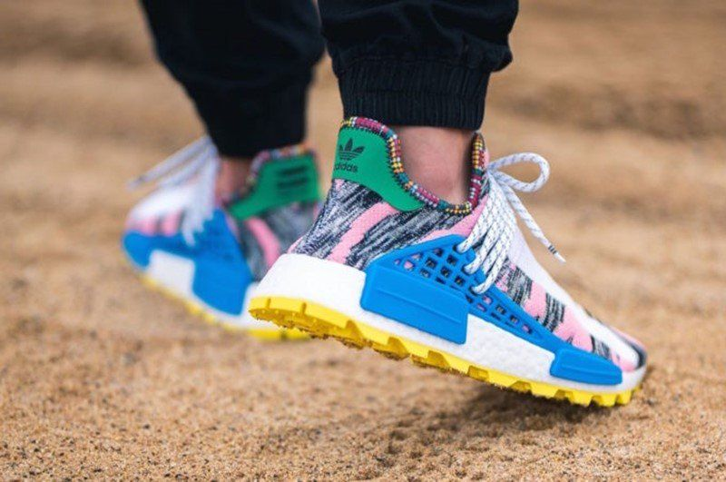 19e8cddc6 Buy Pharrell x Adidas NMD Hu Solar Light Pink Sneakers + Review ...