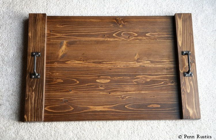 Flat Wood Tray With Handles Serving Tray Coffee Table Ottoman Tray With Images Rustic Serving Trays Wood Tray Serving Tray Wood