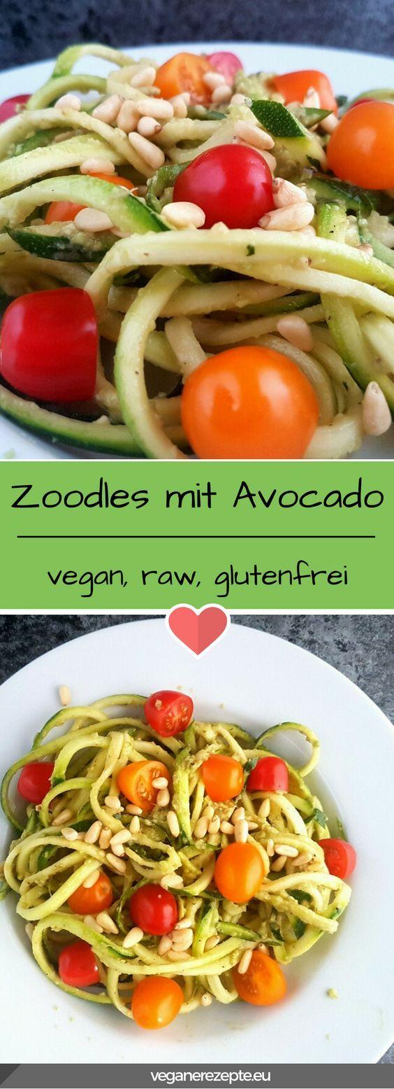 Photo of Raw Food Zoodles with Avocadopesto | Vegan recipes
