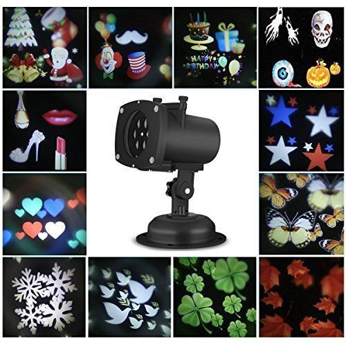 Holiday Decoration Christmas LED Rotating Projector Lamp Indoor