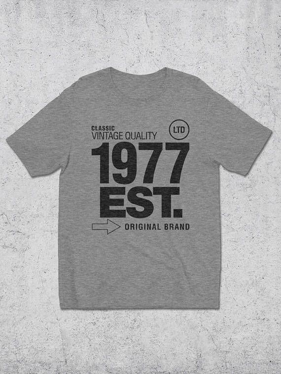 40th Birthday Gift For Man 1977 EST T Shirt Graphic Tees