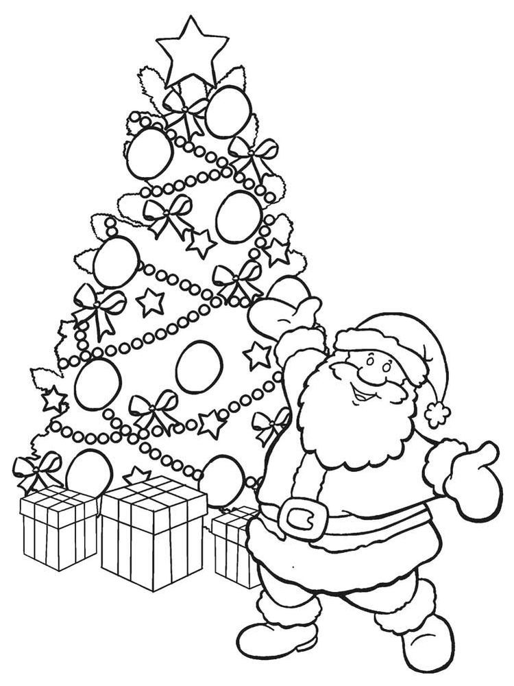 Christmas Tree Coloring Pages Printable Free Coloring Sheets Di