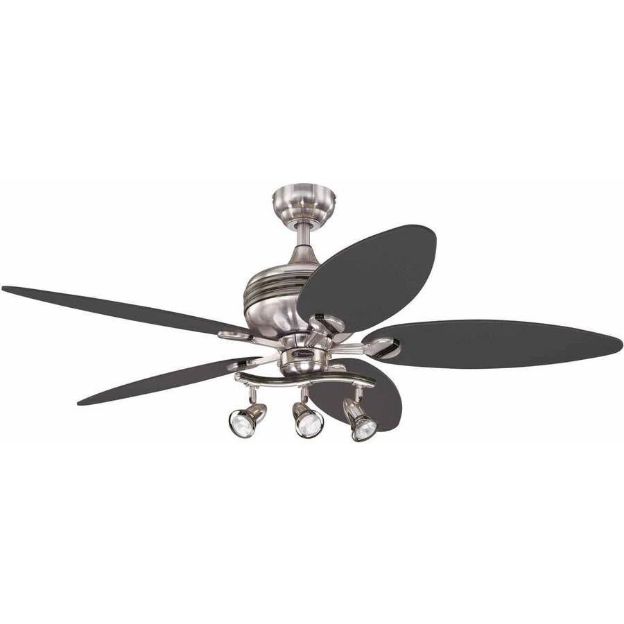 Track Light Ceiling Fan Combo 52 Inch
