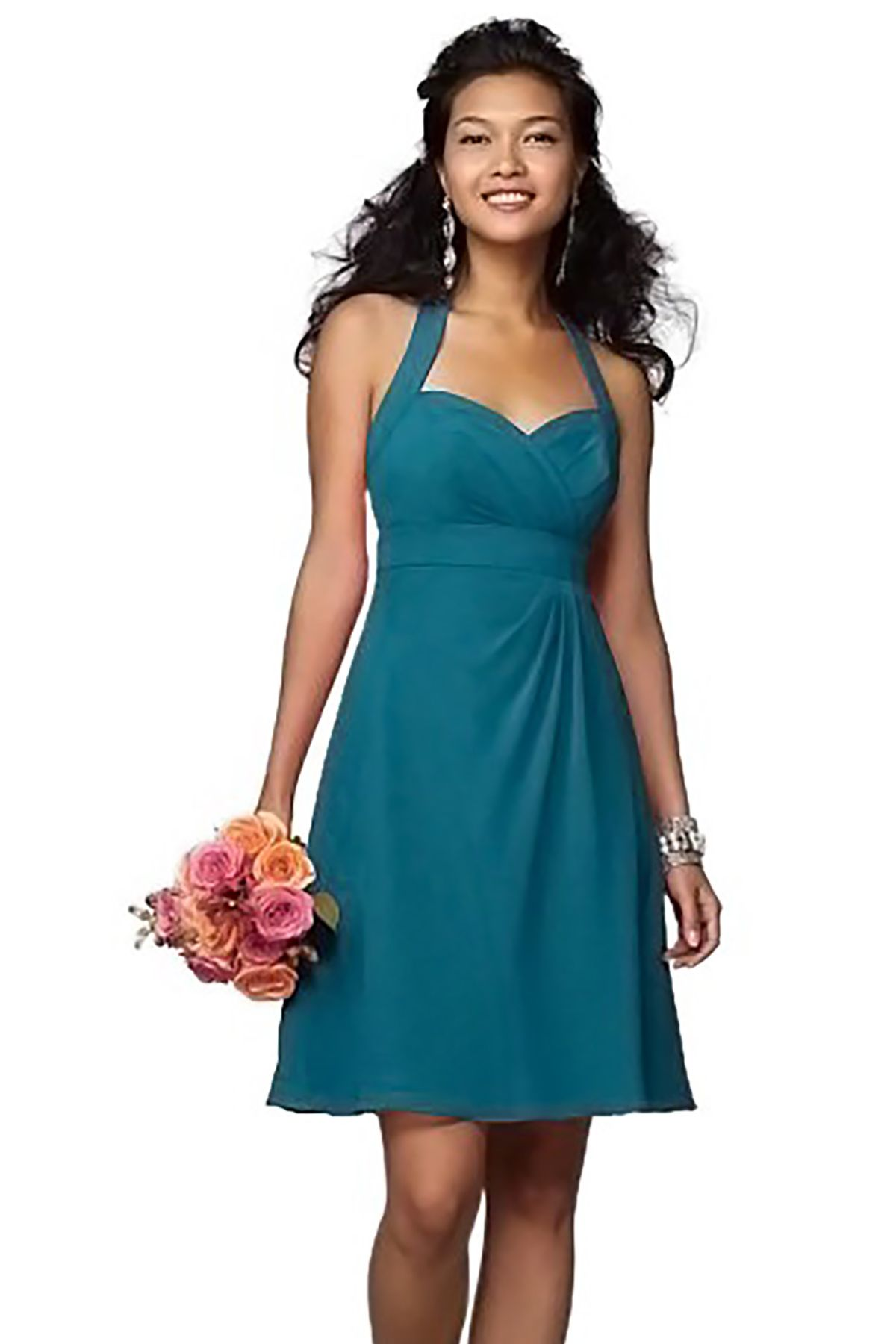 Alfred Angelo 7172 Bridesmaid Dress in Turquoise in Chiffon ...