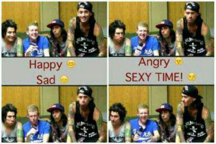 Look This Interview Was So Funny Vic S Face Stayed The Same The Whole Time Pierce The Veil Tony Perry Bryan Stars