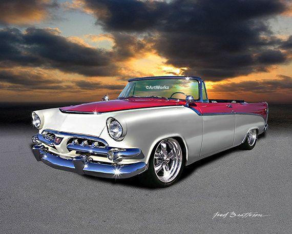 Muscle Car – 1956 Dodge D500 Custom – 426 Hemi – Hot Rod arte – encargo del coche – coche clásico Ptint – AW54 de poster Print – 11 x 14 blanco Mat, 8 x 10