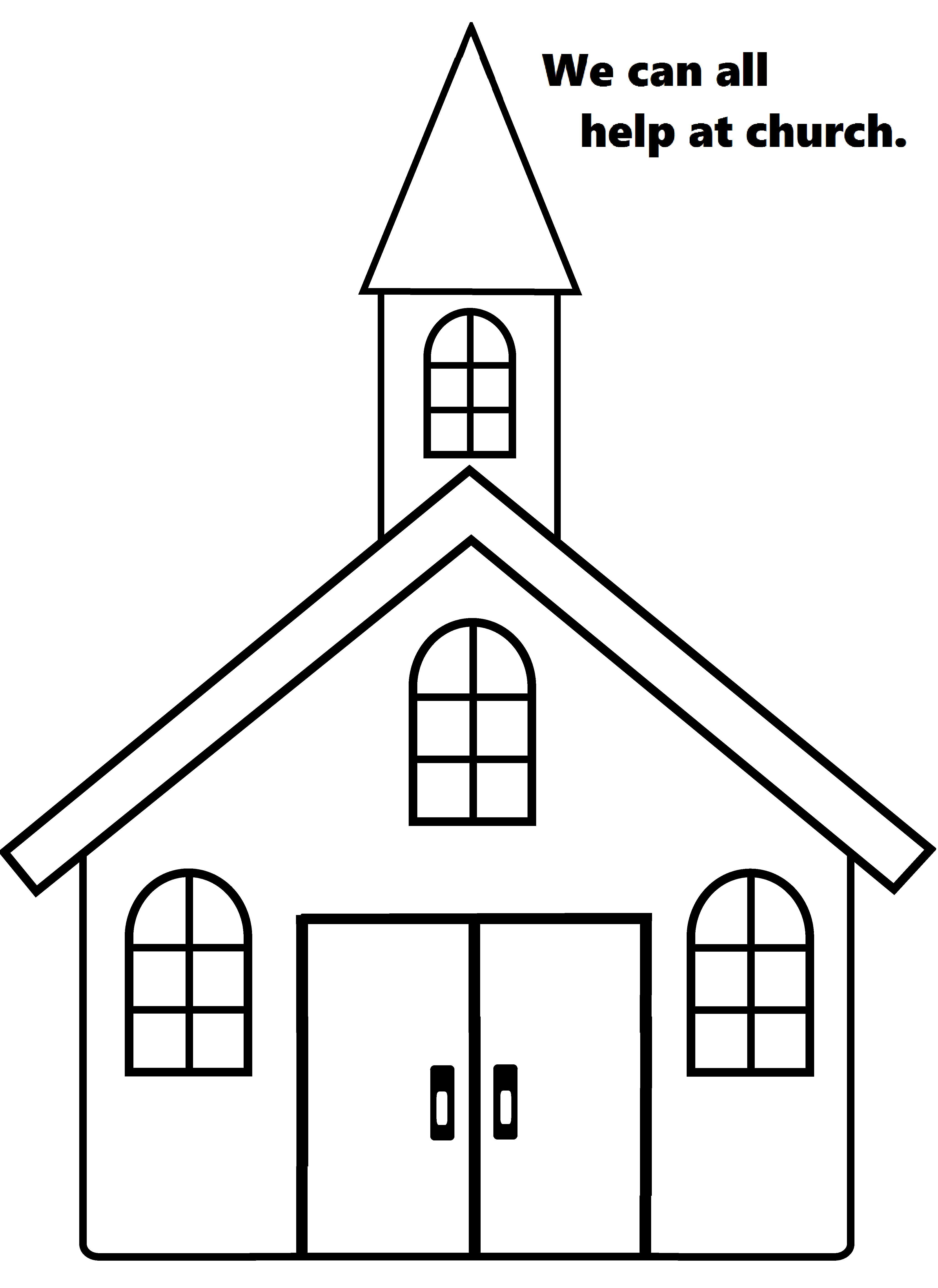 Lesson 44: We can all help at church. Print the church