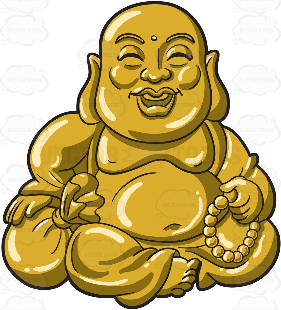 A Sitting And Laughing Buddha