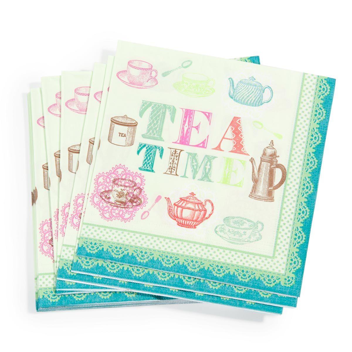 Pak 20 Tea Time servetten