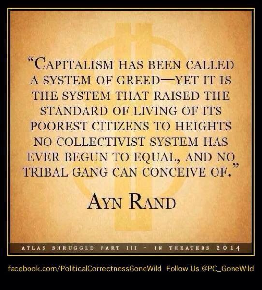 Ayn Rand - Support Capitalism - buy from a capitalist ...