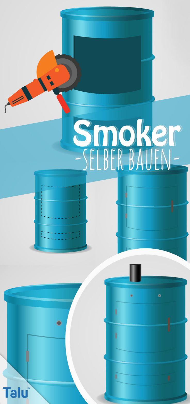 Smoker selber bauen – Bauanleitung – Räucherfass aus Ölfass