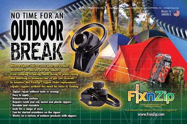Tent Zipper Repair — FixnZip® | Zipper repair, Camping ...
