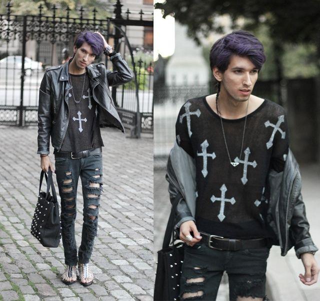 Fashion mens clothes http//findanswerhere.com/mensfashion pastel goth boy! Rocking that dark ...