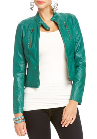 2b | Seamed Exposed Zip Jacket - Leather