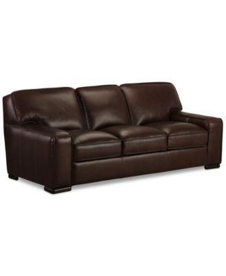Ikea Sofa Bed Kassidy Leather Sofa Only at Macy us macys