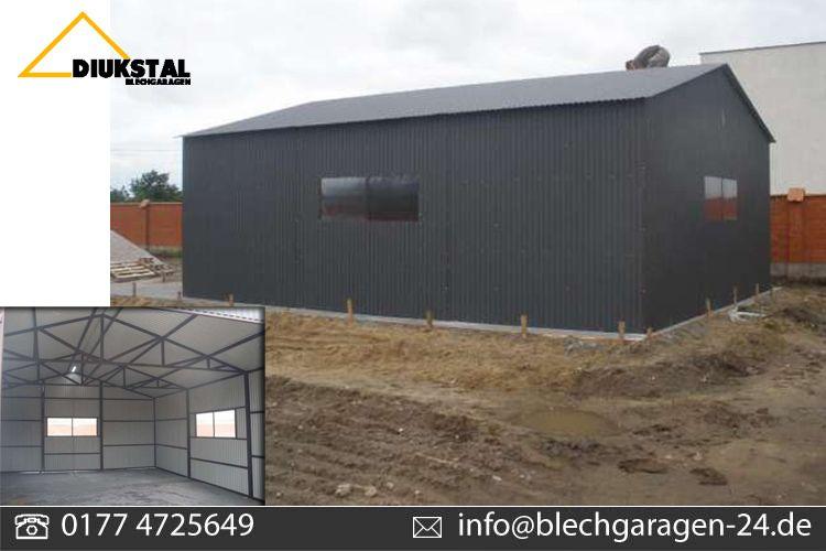 blechhalle mit tor breite 8m l nge 9m 1x tor 3 x3 m. Black Bedroom Furniture Sets. Home Design Ideas