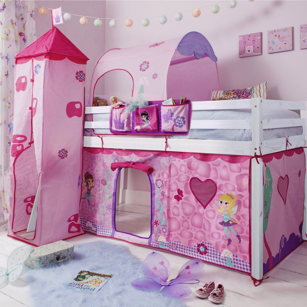Fairies Cabin Bed with Tent Tower Tunnel u0026 Bed Tidy & Fairies Cabin Bed with Tent Tower Tunnel u0026 Bed Tidy | Katerina ...