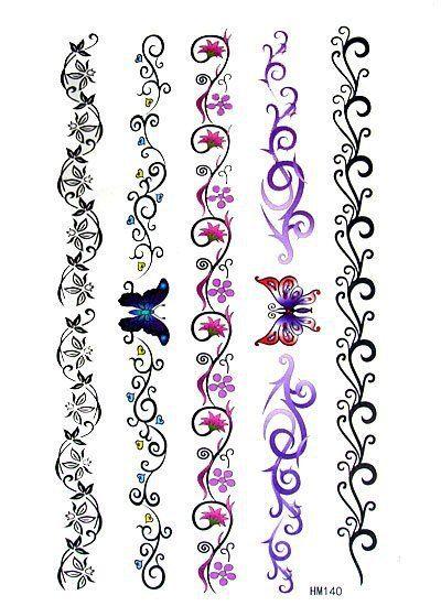 3pc-Bracelets-Pattern-Temporary-tattoo-Waterproof-transfer-body-painting-tatoo-stickers-art-new-design-free-shipping.jpg (400×550)