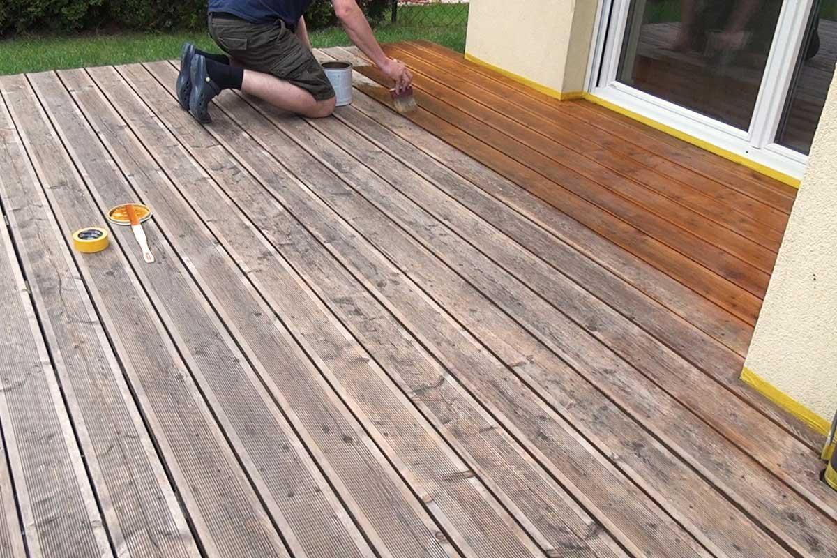 Holzterrasse Olen Anleitung Tipps Vom Tischler Holzterrasse Holzboden Diybook At Holzterrasse Terrasse Reinigen Holzboden