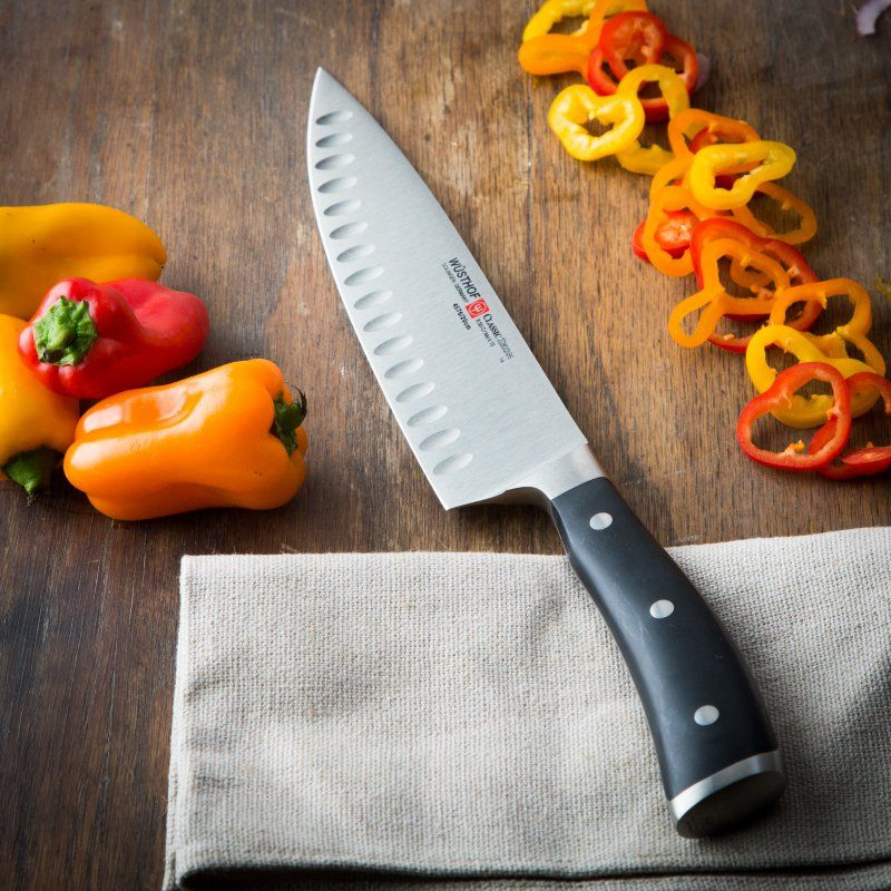 Wusthof Classic Ikon 8 Inhollow Edge Chef Knife  4576720 Adorable Kitchen Knives Reviews Design Decoration