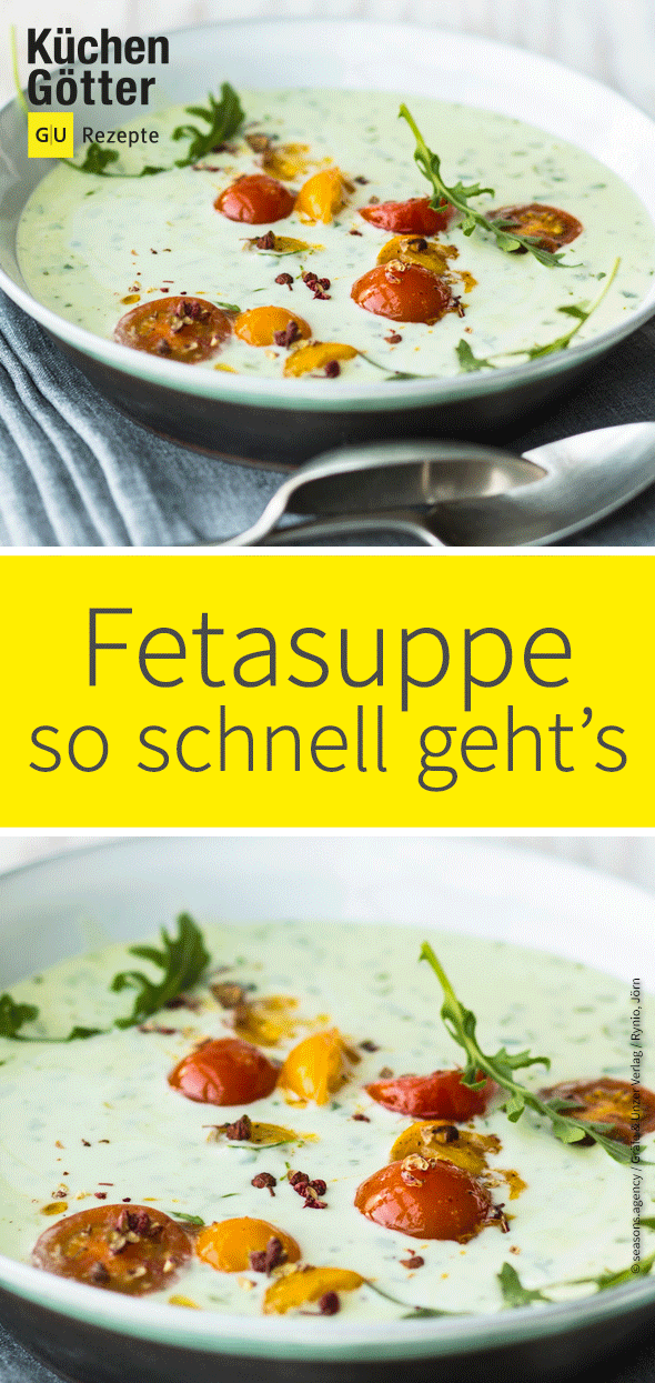 Rucola-Feta-Suppe – vegetarisch