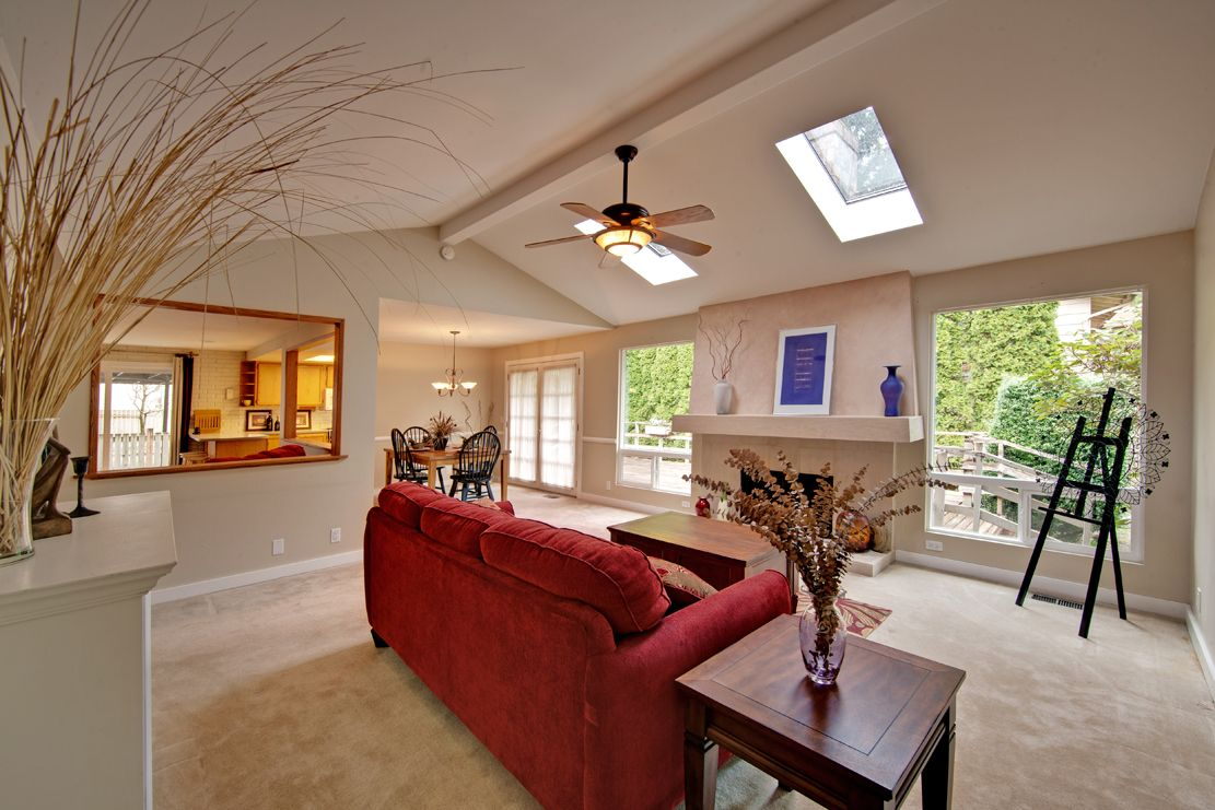 Living Rooms With Skylights Offering Natural Light | Skylight, Natural  Light And Living Rooms