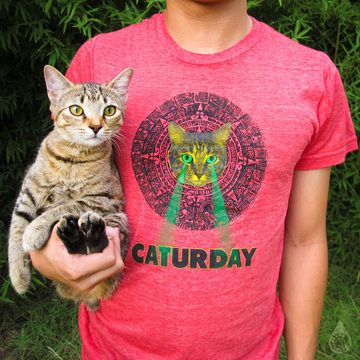 I WANT THIS SHIRT. Mayan Laser Caturday Unisex Tee now featured on Fab.