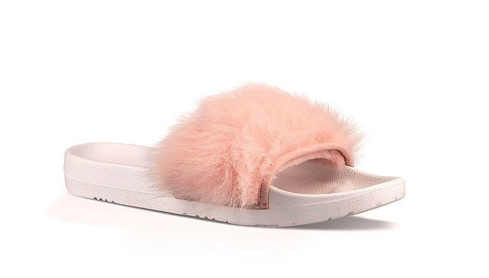 fd85008f579 eBay Advertisement) UGG Australia ROYALE Slide Pink Toscana Fur Pool ...