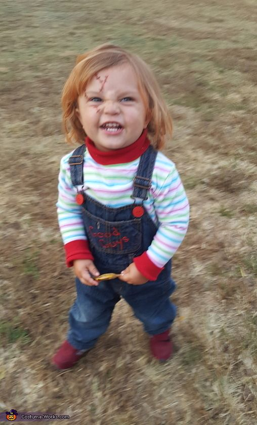 Chucky Doll Halloween Costume Contest At Costume Works Com 3 Person Halloween Costumes Doll Halloween Costume Toddler Chucky Costume