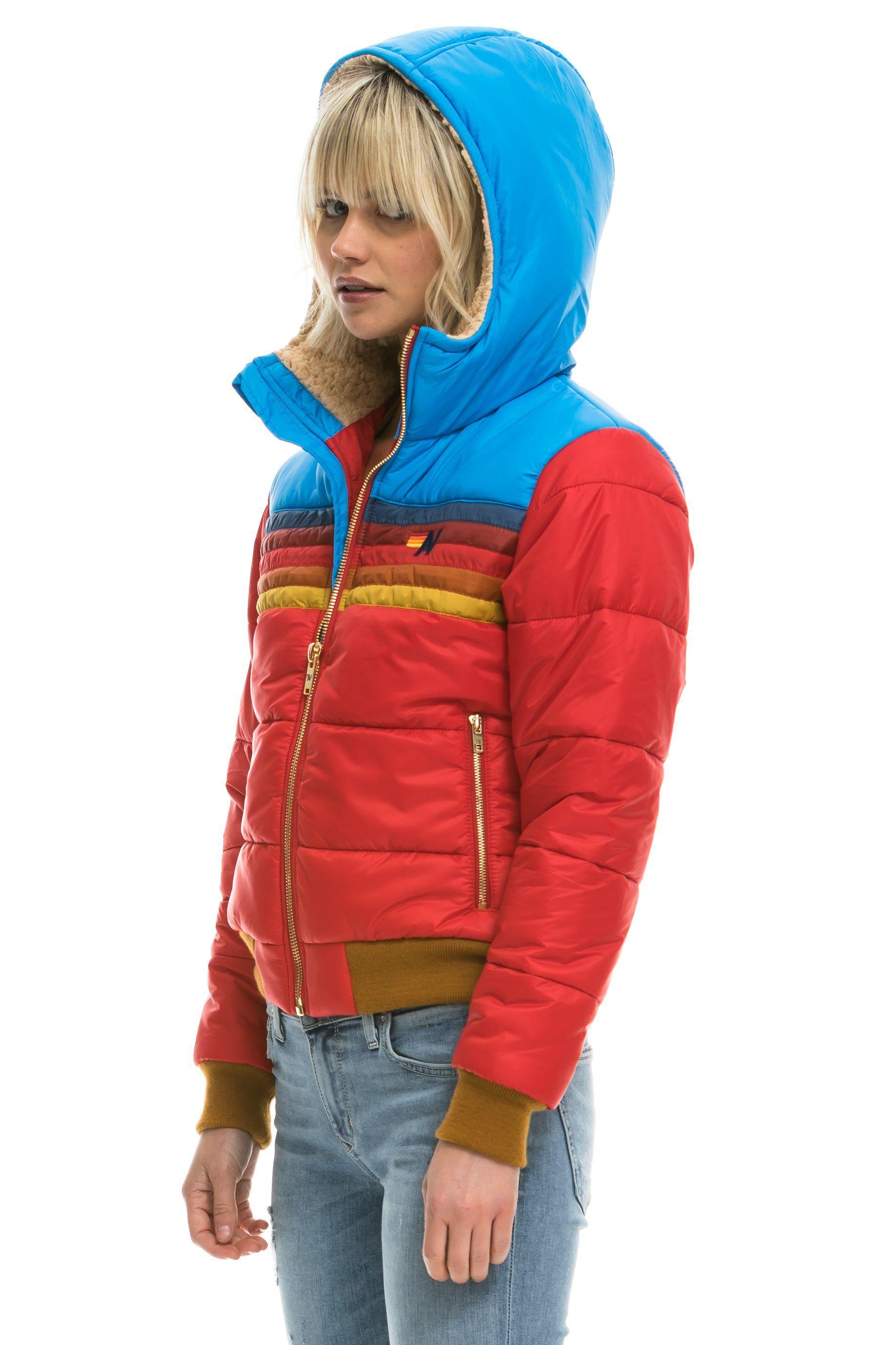 Women S Trekker 2 Hooded Puffer Jacket Cherry Jackets Fashion Women [ 2758 x 1839 Pixel ]