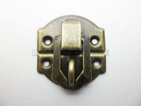 Lock Latch Vintage Jewelry Box Jewelry Box Hardware Small Boxes