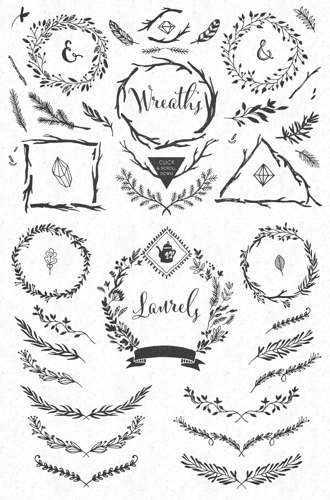 Handsketched Rustic Elements Collar Bone Tattoo Flower Tattoos Arrow Tattoos
