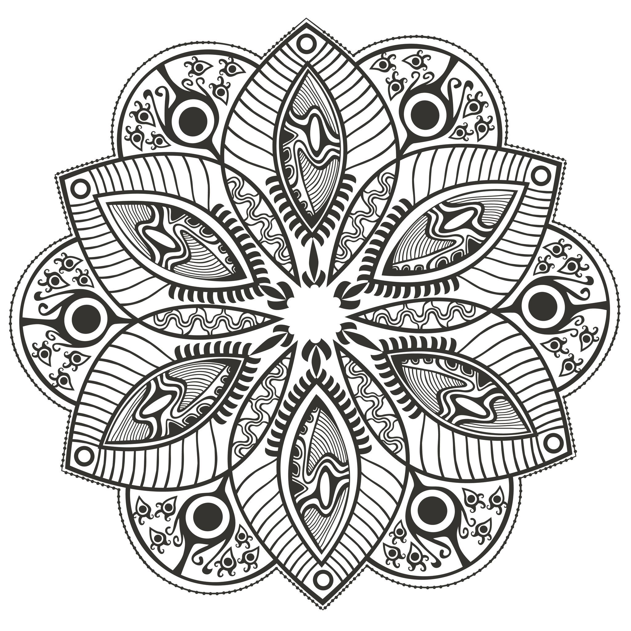 coloring-page-mandala-Original-Flower-by-markovka, From the gallery ...