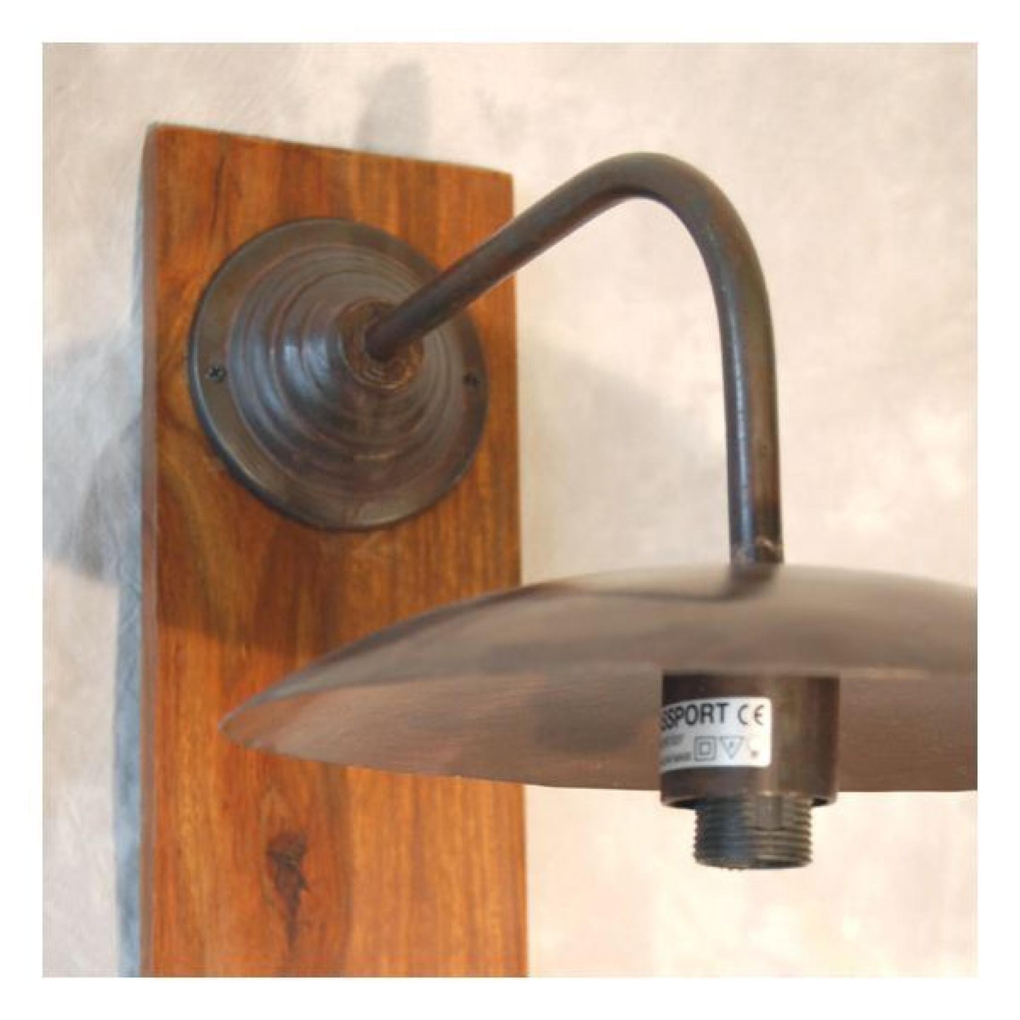 applique murale fer forge loft bois | lampes // luminaires